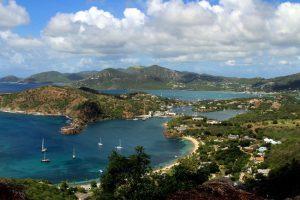 View on Antigua sea