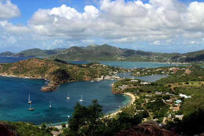 View on Antigua sea
