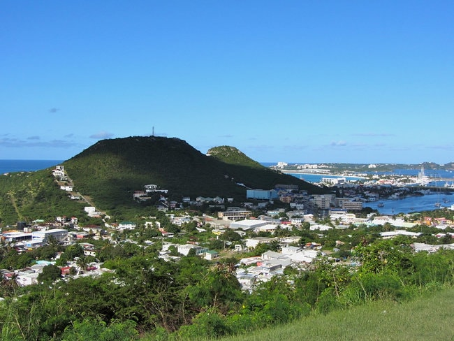 View on Cole Bay in St Maarten