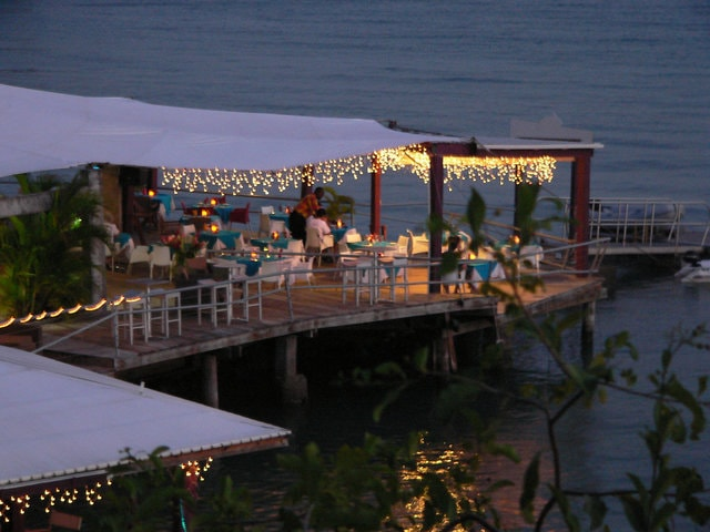 Restaurant on the water in Grenada