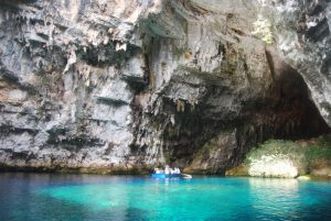 Dinghy in Papanikolis cave