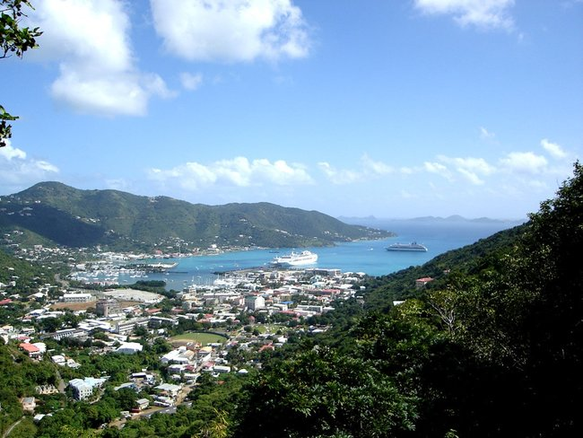 View on Road Town in Tortola