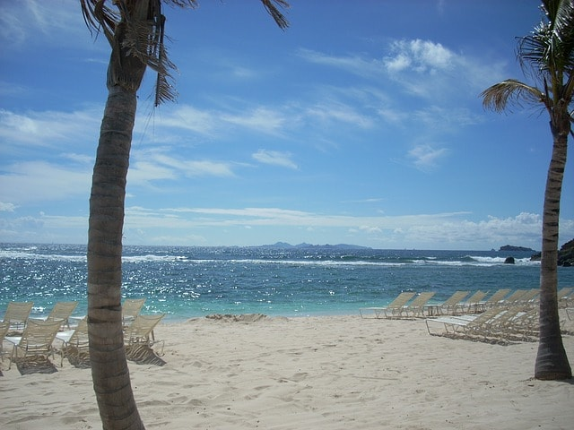 Beach in St-Maarten island