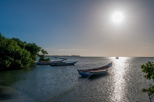 Boats on the water in Venezuela