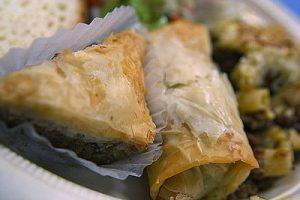 Baklava on a plate