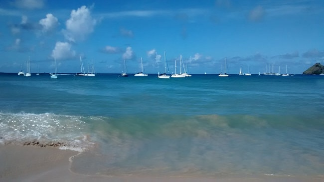 Boat on the water in the BVI