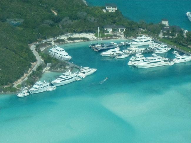 Boats in Marina Cay