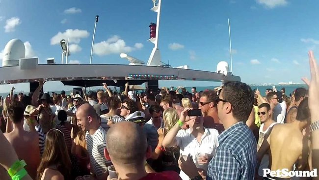 Dance party on a boat