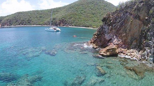 View on Norman Island Coast