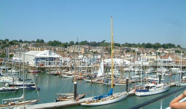 Boats in Cowes Yacht Haven