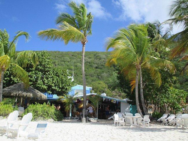 Restaurant on the beach in Tortola