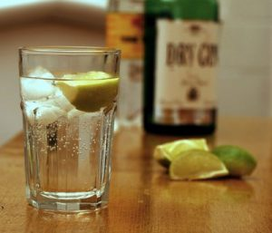 Gin And Tonic drink on a table