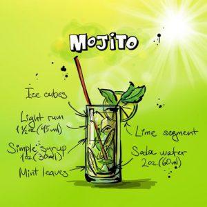 Comics of Mojito drink