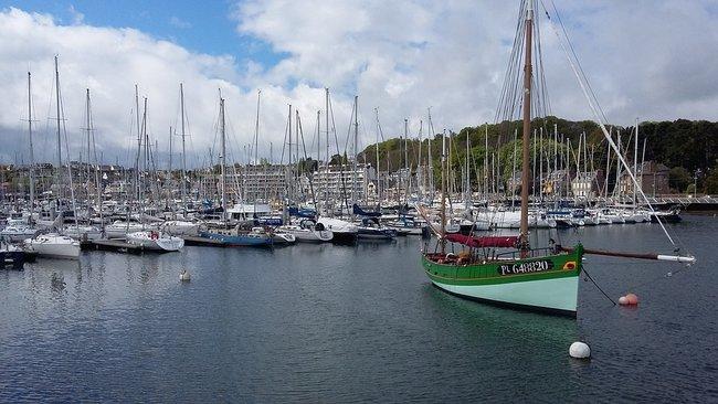 Boats in Perros Guirec Marina