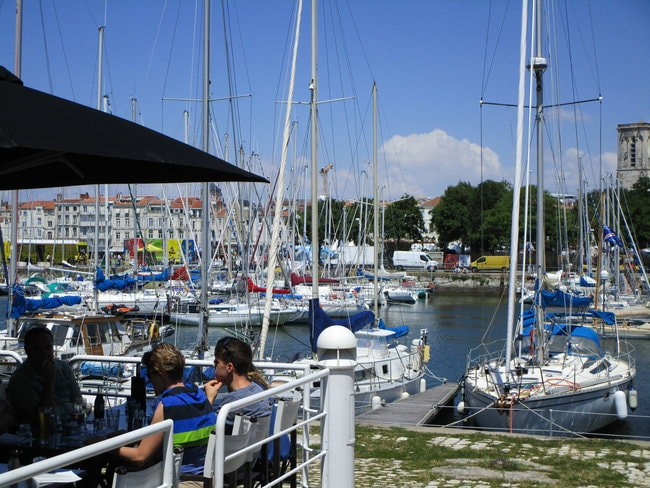 Boats in the port de plaisance de la Rochelle