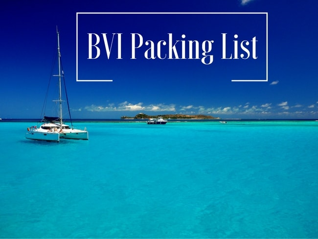 BVI Packing list