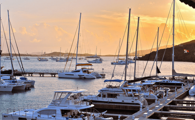 Boats in the BVI