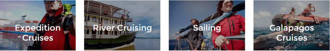 Examples of sailing trips