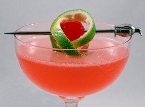 Pink Pussycat drink in a glass