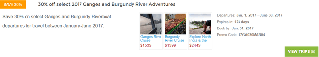 Examples of price reductions for trips