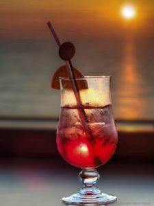 Tequilla sun rise in a glass