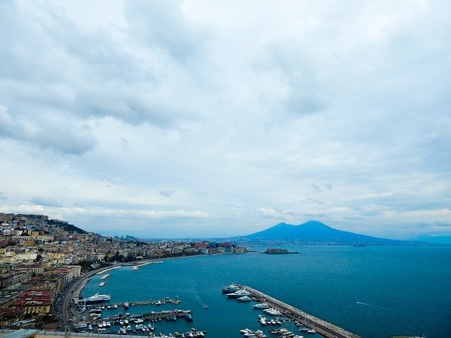 View on Naples coast