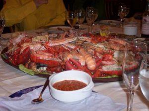 Big plate of seafood