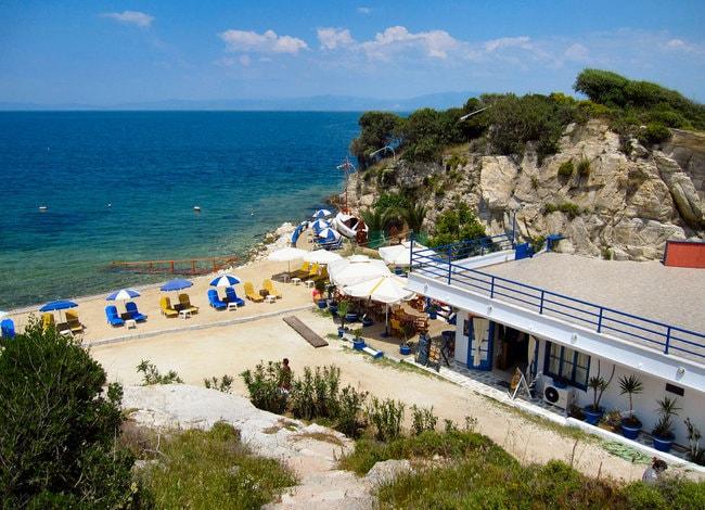 Private beach in Greece