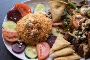 Greek food on a plate