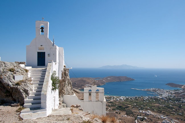 View from the Cathedral in the Cyclades
