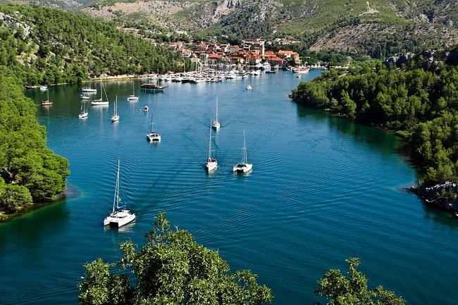 Boats on the water in Croatia