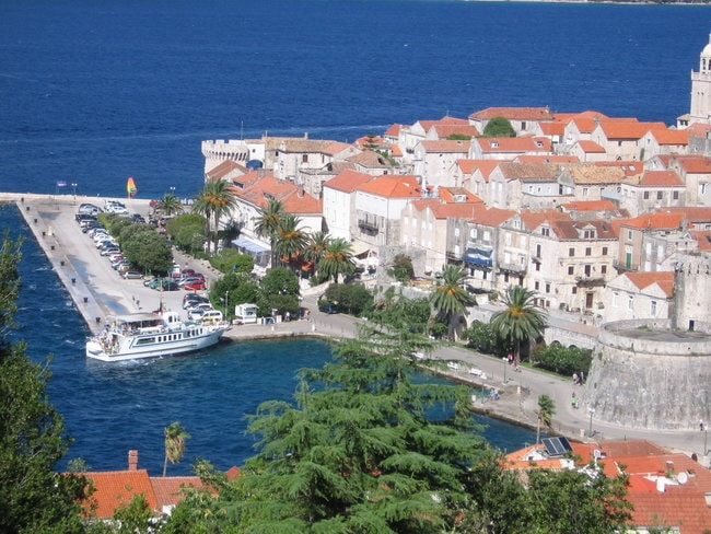Korkula town in Croatia