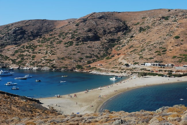 Beach in Kythnos in the Cyclades