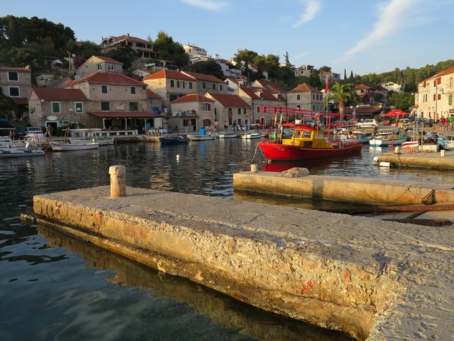 Maslinica Bay in Croatia