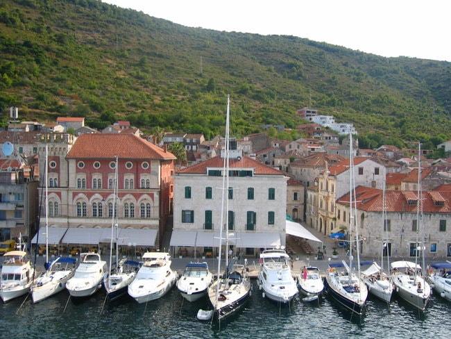 Visca Luka harbor in Croatia