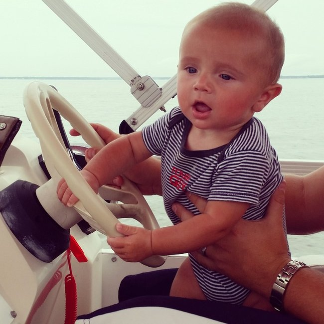 Baby on a boat