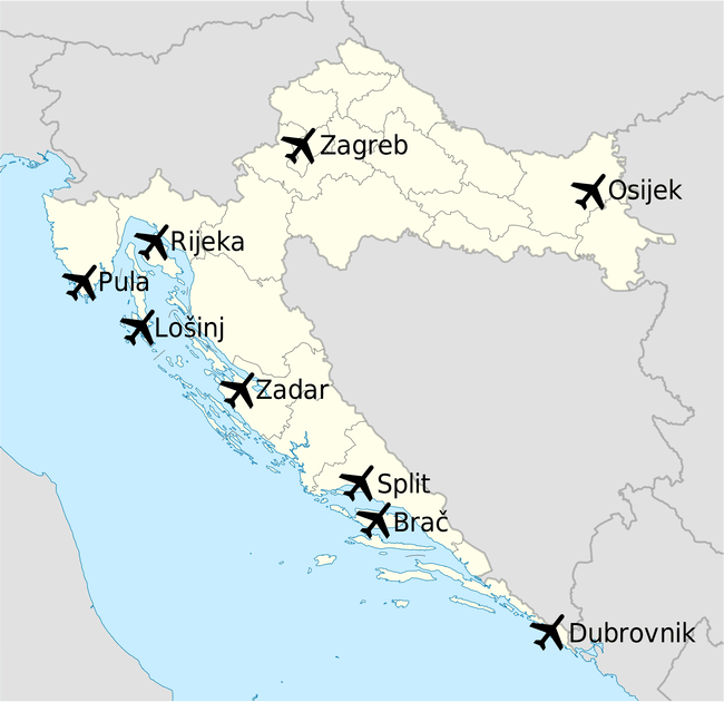 Flights in Croatia