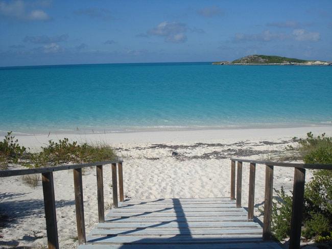 Beach in Pelican cay land