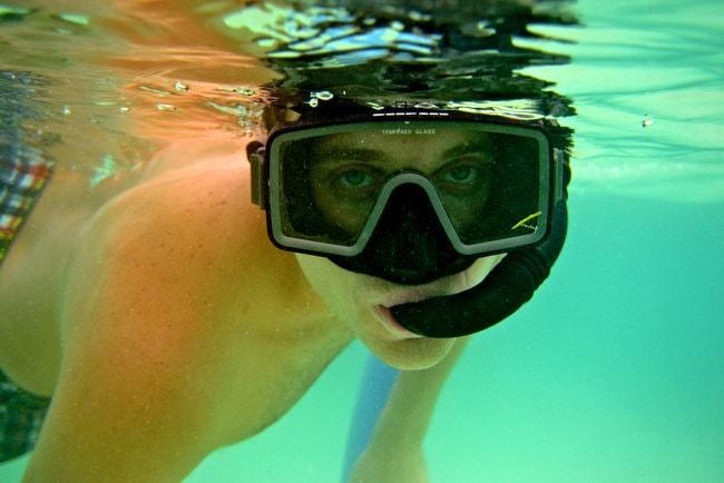 Dark Silicone Snorkel Mask