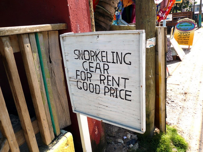 Renting Snorkeling Place