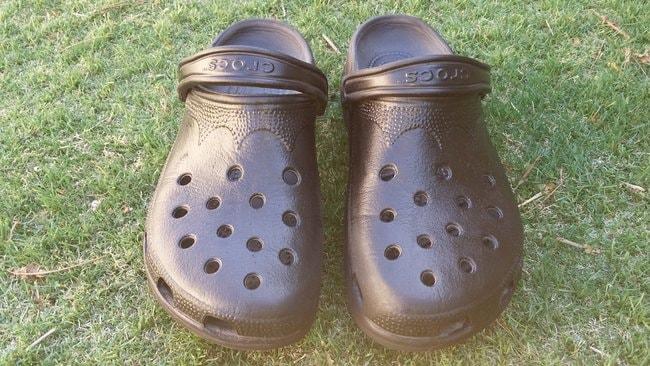 Classic black Crocs