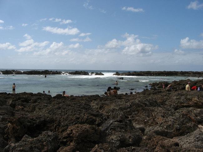 Shark Cove in Oahu