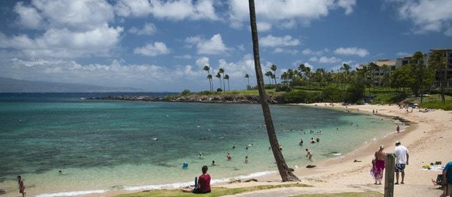 Kapalua snorkeling beach in Maui