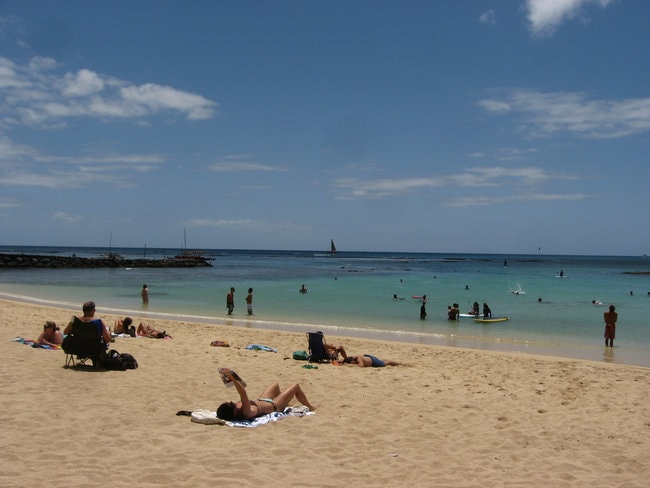 Sans Souci beach in Oahu
