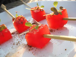 Watermelon on Stick snack for boating