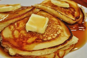 Flutty pancakes snack for boating