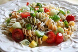 Pasta salad snack for boating