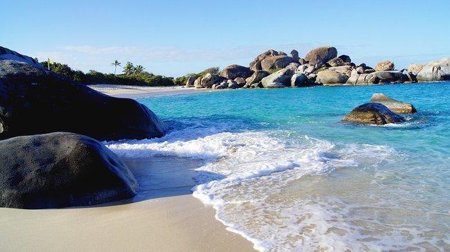 Virgin Gorda snorkeling spot in the Caribbean