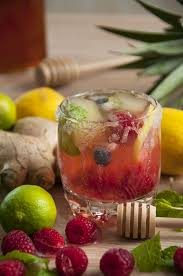 Tropical Sangria Summer Cocktail
