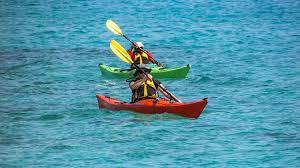 Kayaking while boating